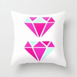 Color Block Diamonds Throw Pillow