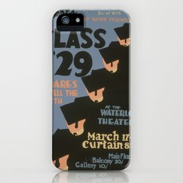 Vintage poster - Class of '29 iPhone Case