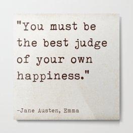 Jane Austen Emma Quote Metal Print