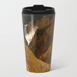 Thundering Waters Of The Yellowstone River Travel Mug