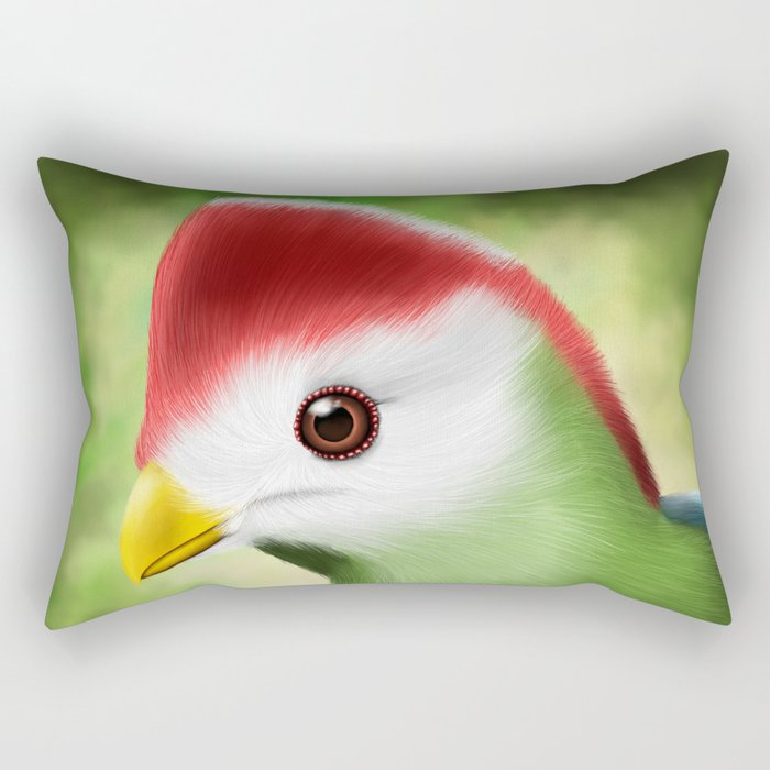 Red crested turaco Rectangular Pillow