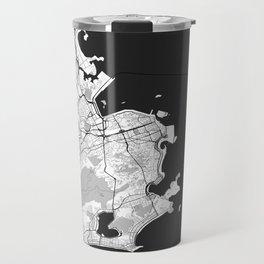 Rio de Janeiro City Map Gray Travel Mug