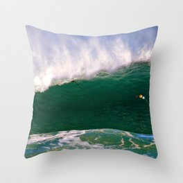 Windy Wave Throw Pillow