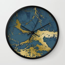 Blue Azul Marble Wall Clock