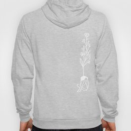 Tiny Girl with Flowers Hoody