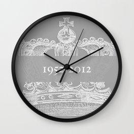 Jubilee Crown {soft grey} Wall Clock