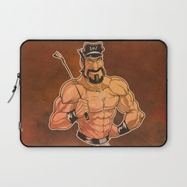 Be Good: Leather Muscular Man illustration Laptop Sleeve