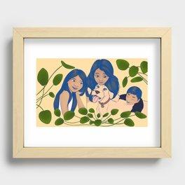 Family portrait  Recessed Framed Print