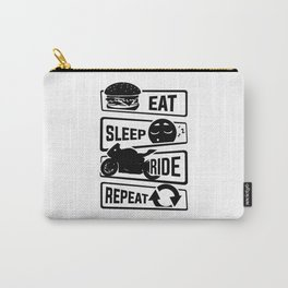 Eat Sleep Ride Repeat - Motorcycle Biker Street Carry-All Pouch
