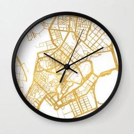 MACAU CHINA CITY STREET MAP ART Wall Clock