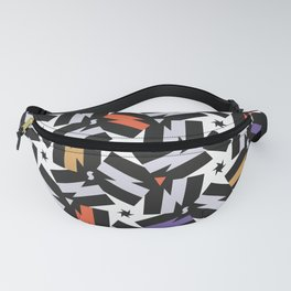 Energy - Morrocan Tiles Memphis pattern minimal geometric star zigzag bolts Fanny Pack