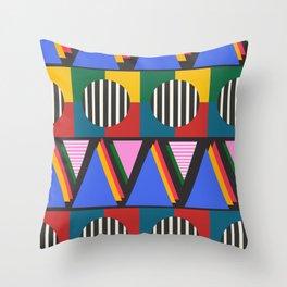 Love Triangle Circle 2 Throw Pillow