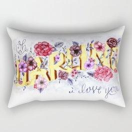 Oh, Darling, I Love You. Rectangular Pillow