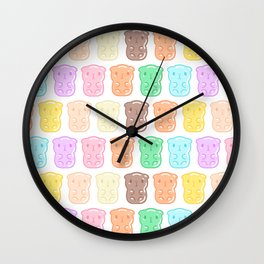Rainbow Gummy Candy Guinea Pigs Pattern  Wall Clock