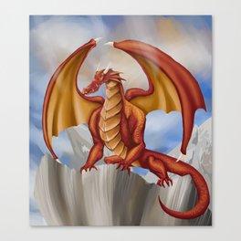 Red Fantasy Dragon by Kate Morgan Canvas Print
