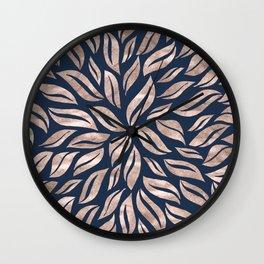 Sunburst Glam #3 #rosegold #decor #art #society6 Wall Clock