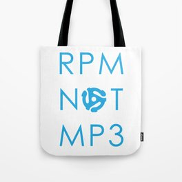 RPM NOT MP3 - Blue Tote Bag