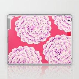 Large Flower Balls On Red Background #decor #society6 #buyart Laptop & iPad Skin
