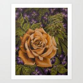 Orange Weed Art Print