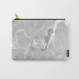 Gray and White Marble Carry-All Pouch