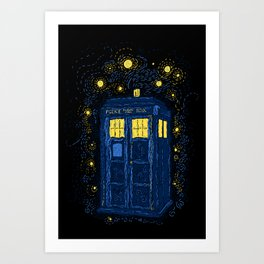Space Time Impressionism Art Print