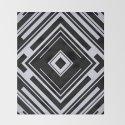 Black and White Tribal Pattern Diamond Shapes Geometric Geometry Contrast I by aej_design
