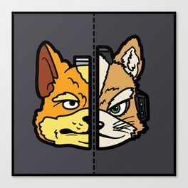 Old & New Fox McCloud Canvas Print