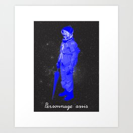 BOLO 1 personnage assis Art Print