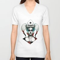 harley V-neck T-shirts featuring Harley ! by Alejandro Dayer