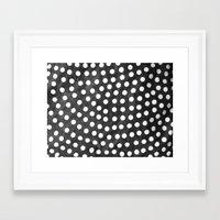 polka Framed Art Prints featuring Polka by kirstenariel