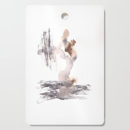 The World Awaits - 151124  Abstract Watercolour Cutting Board