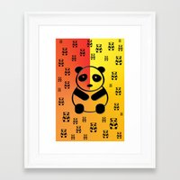 pandas Framed Art Prints featuring Pandas by Gaspar Avila