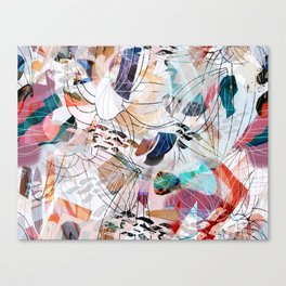 Abstract colourful collage Canvas Print