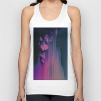 fringe Tank Tops featuring Pink Fringe by DuckyB