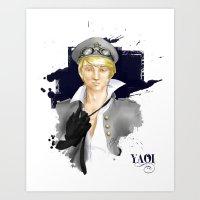yaoi Art Prints featuring Yaoi by Noemí duVallon