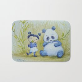 """Panda Pal Pleasantries"" Bath Mat"