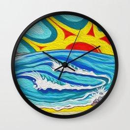 Sunny Surfers Paradise Wall Clock