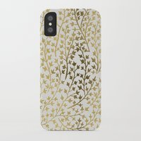 micklyn iPhone & iPod Cases featuring Gold Ivy by Cat Coquillette
