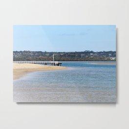 Barwon Heads Beach Print | Bellarine Peninsula Australia | Beach and Bush Metal Print