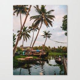 Backwater Sunset Canvas Print