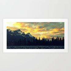 Sunset Over The Rockies Art Print