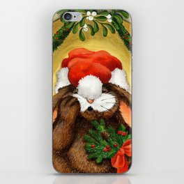 RABBIT UNDER THE MISTLETOE iPhone Skin