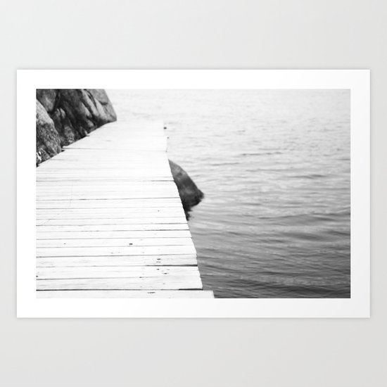 To the sea Art Print