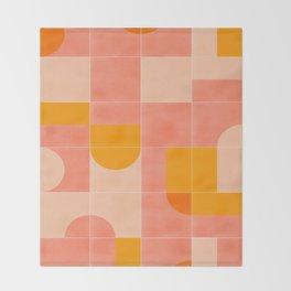 Retro Tiles 03 #society6 #pattern Throw Blanket