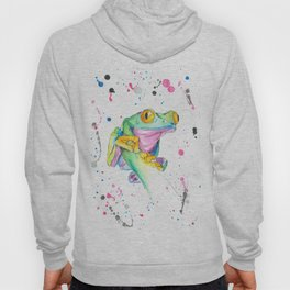 Frog - Watercolor Painting Hoody