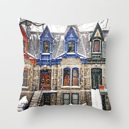 The Enchanting Winter Throw Pillow