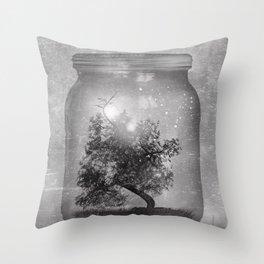 Black and White - Saving Nature Throw Pillow