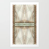 Art Print featuring Border C Pattern 1 by Cie Ja