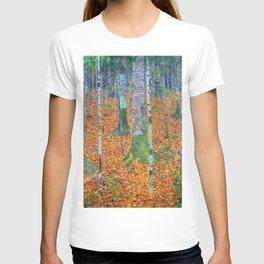 Gustav Klimt Birch Forest T-shirt