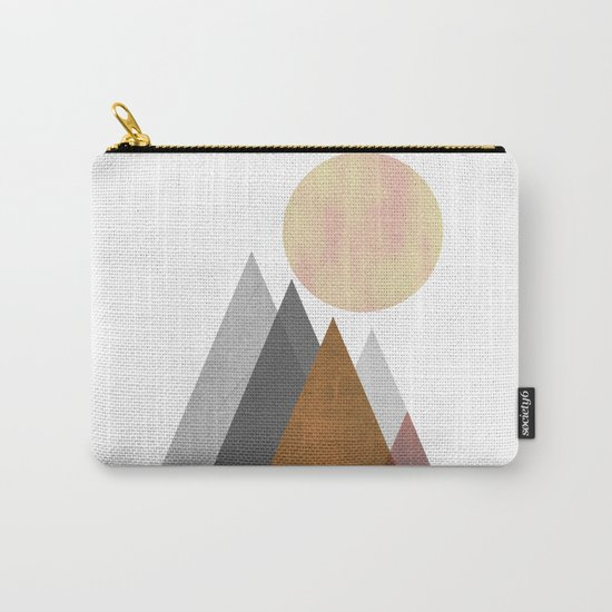 The Gathering, Geometric Landscape Art Carry-All Pouch